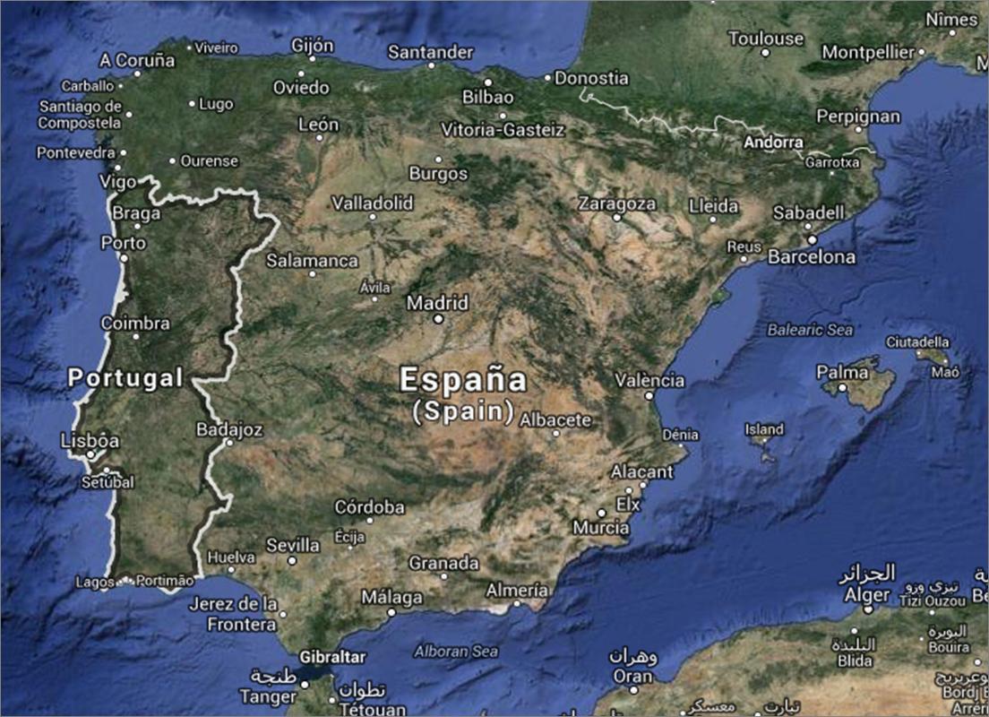 mapa do algarve google Mapas de Portugal | Visitando Portugal mapa do algarve google