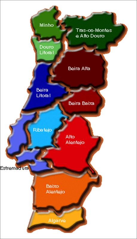 mapa de portugal 2014 Mapa Portugal Regiões | Visitando Portugal mapa de portugal 2014