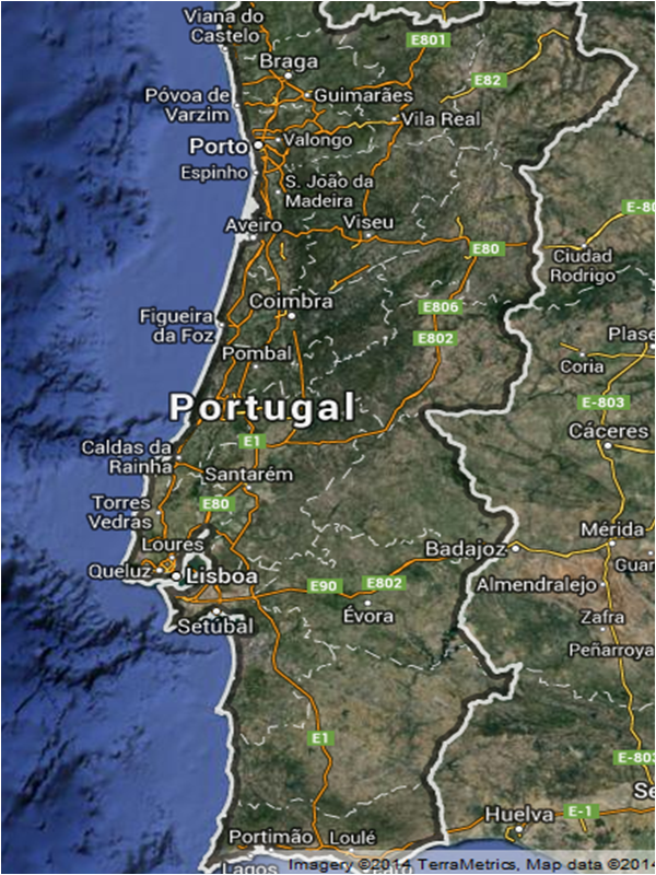 mapa do algarve google Mapa Portugal Concelhos | Visitando Portugal mapa do algarve google